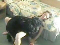 Black woman and black dog