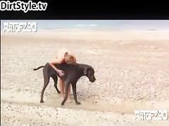 Morena se tira perro en la piscina