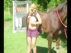 Huge cum from the horse